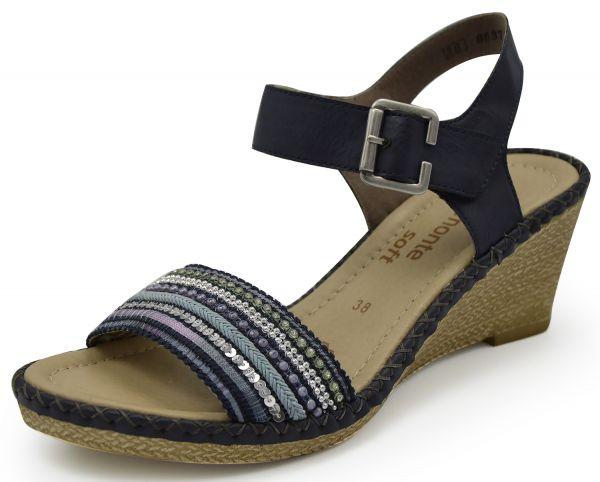 Remonte D6755 Damen Sandalen blau
