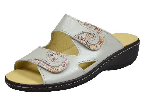 Longo 1.008.755 Damen Pantoletten perle/ beige