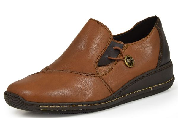 Rieker 44351-23 Damen Slipper braun