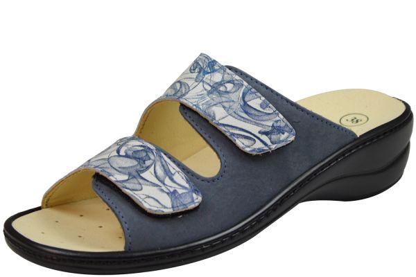 Algemare 1447-t85 Damen Pantoletten Wechselfußbett lavendel aqua ( blau )