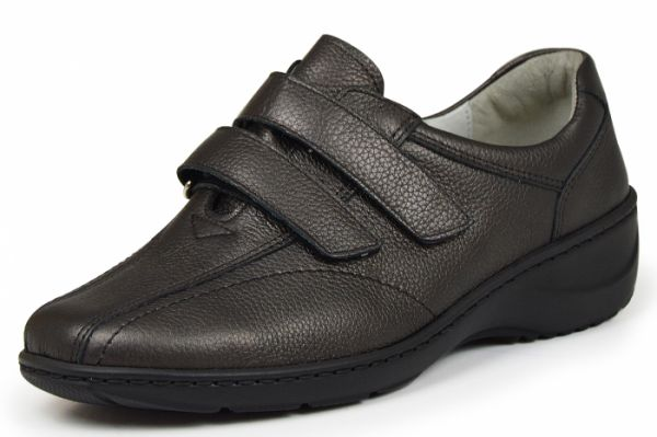 Waldläufer Kya 607302 172 014 Damen Schuhe Klettverschluß Wechselfußbett schiefer