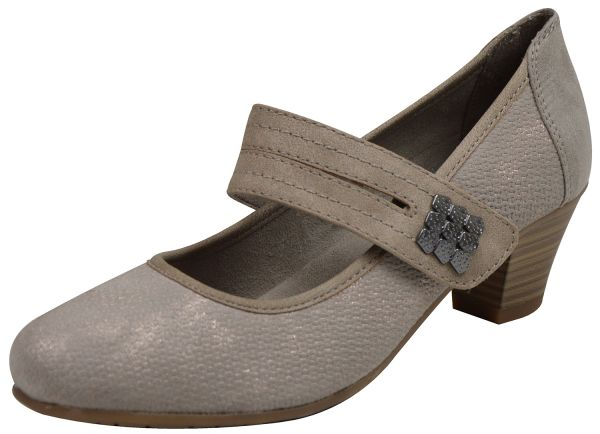 Jana 24332 Damen Pumps taupe/ metall