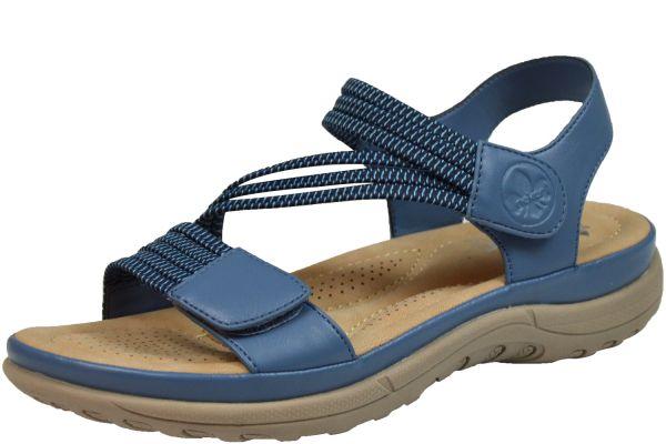 Rieker V8873-14 Damen Sandalen blau