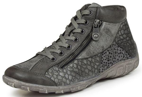 Remonte R3465-47 Damen high top Sneaker Wechselfußbett grau kombi