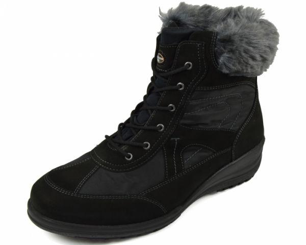 Waldläufer Korinna Damen Stiefel Tex- Membrane Denver Perla Pelz schwarz Weite K