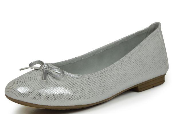 Jana Softline 22164 Damen Ballerina white/silver