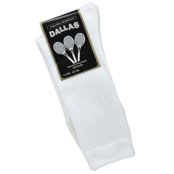 Dallas 5 Paar Herren Sportsocken weiß