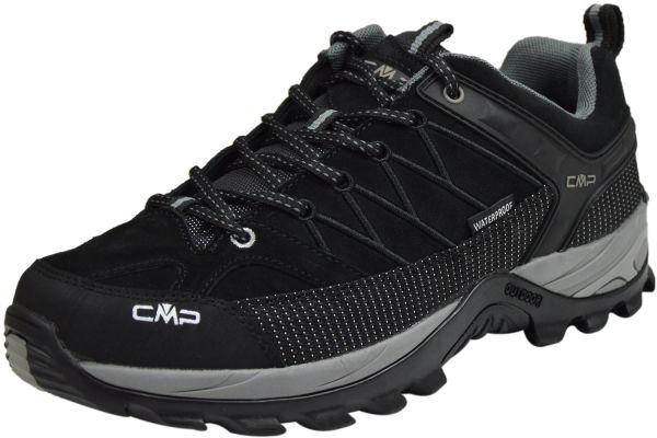 CMP Rigel Low Herren Trakking Schuhe waterproof schwarz-grau ( nero-grey )