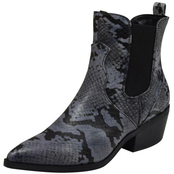 s.Oliver 5-25381-33 Soft Foam Damen Chelsea Boots im Westernstil grau ( grey snake )