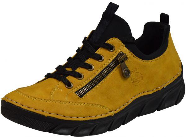 Rieker 55073-68 Damen Sneaker gelb