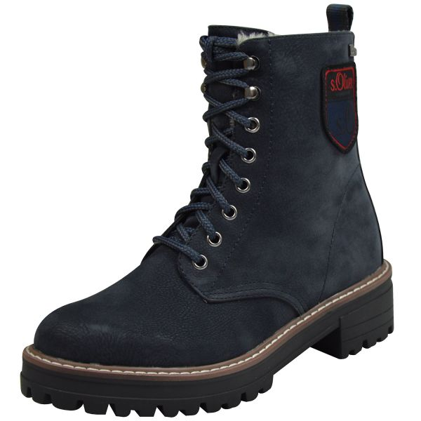 s.Oliver 26254 Damen Combat Boots navy blau