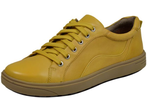 Jana 8-23601-23 Damen Schnürschuhe gelb ( saffron )