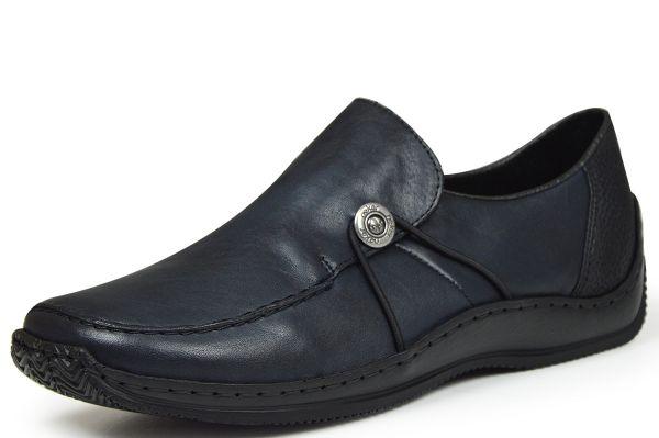 Rieker L1781-14 Damen Slipper dunkelblau