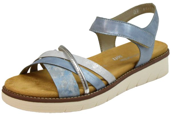 Remonte D2058-12 Lite`n Soft Damen Sandalen Wechselfußbett blau kombi