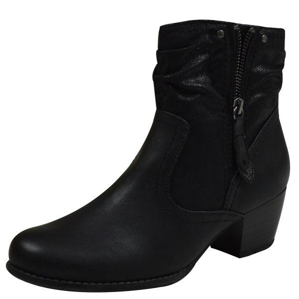 Jana 25370 Damen Stiefeletten schwarz