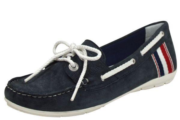 s.Oliver 5-23643-22 Soft Foam Damen Mokassin mit Schnürung blau ( navy )