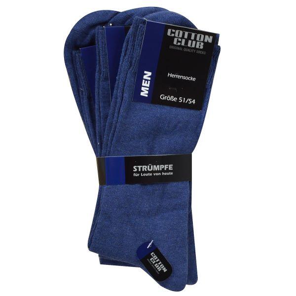 Cotton Club 4096-2 3er Pack Herren Socken ohne Gummi jeans blau bis Gr. 54