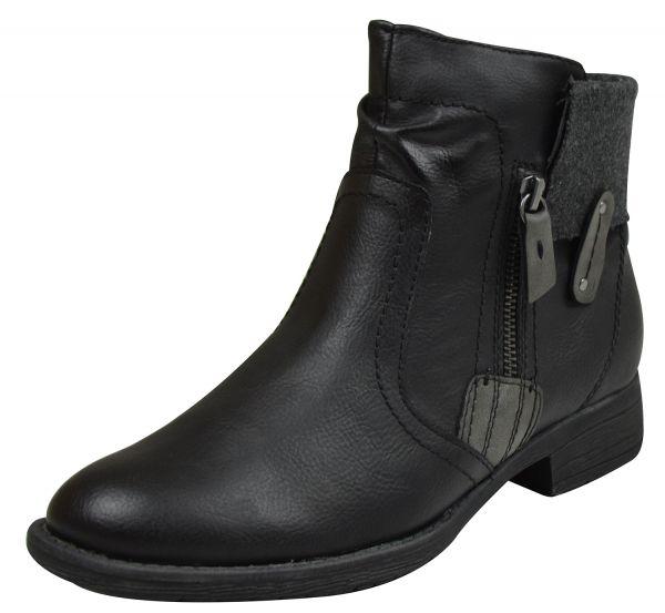 Jana 25464 Damen Soft Line Stiefeletten schwarz