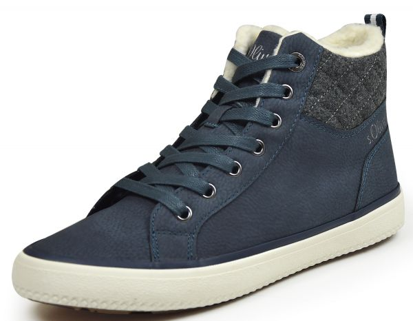 s.Oliver 26208 Damen High Top Sneaker blau