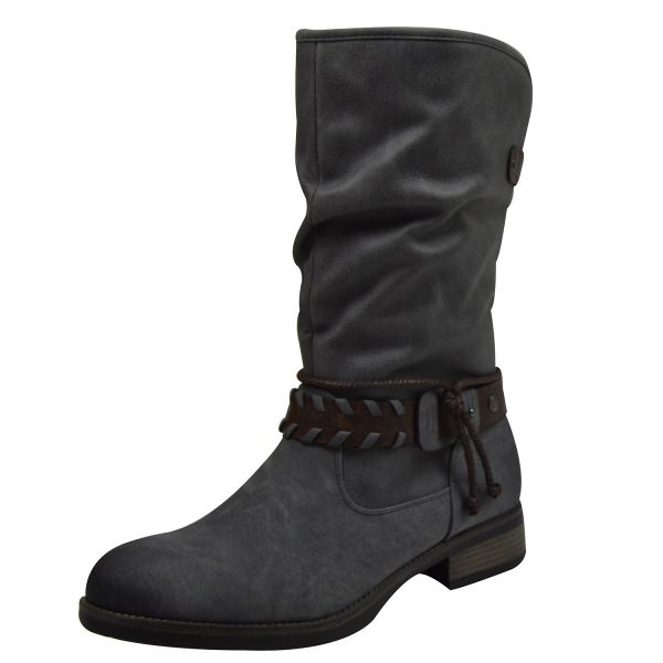 Rieker 98861-42 Damen Stiefel grau