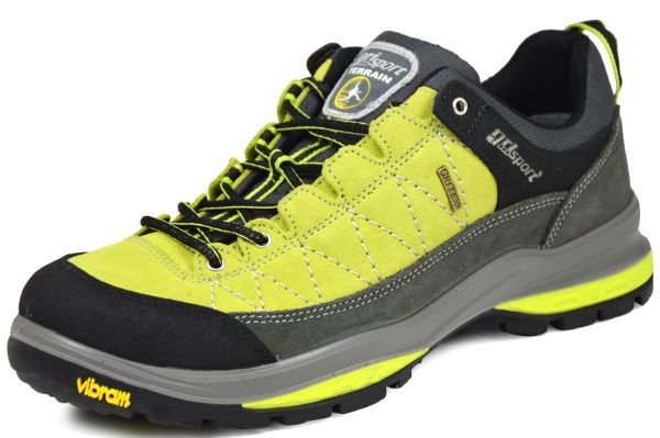 Grisport 12501S8G 21005 Herren Outdoor- und Trekkingschuhe Vibramsohle Gritex-Membrane schwarz/ lemo
