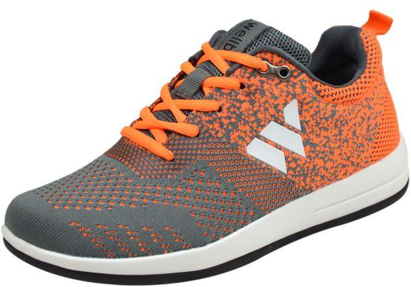 Wellbe Grenada Unisex Sneaker grau / orange