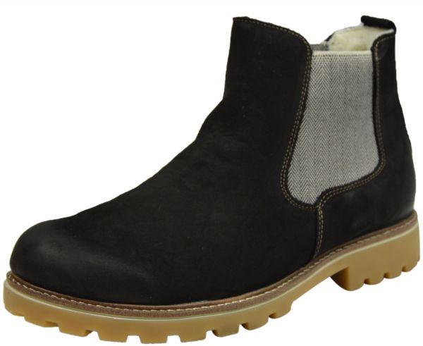Remonte D7457-04 Damen Chelsea Boots schwarz kombi