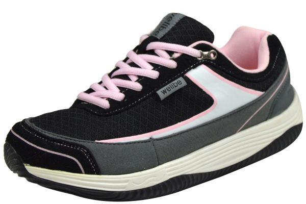Wellbe Mallorca Pink Damen Sneaker schwarz/ pink