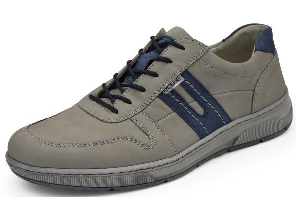 Waldläufer Hadrian 365003 Herren Schnürschuhe Weite H grau / jeans