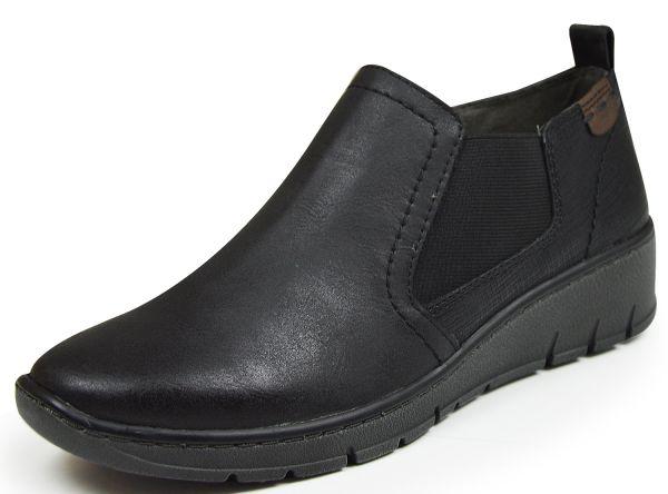 Jana 24304 Damen Chelsea Boots Slipper Weite H schwarz