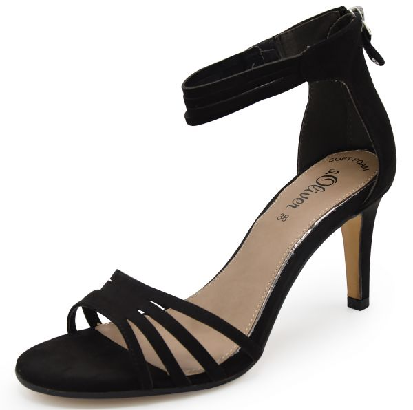 s.Oliver Black Label 5-28331-28 Damen Sandaletten schwarz