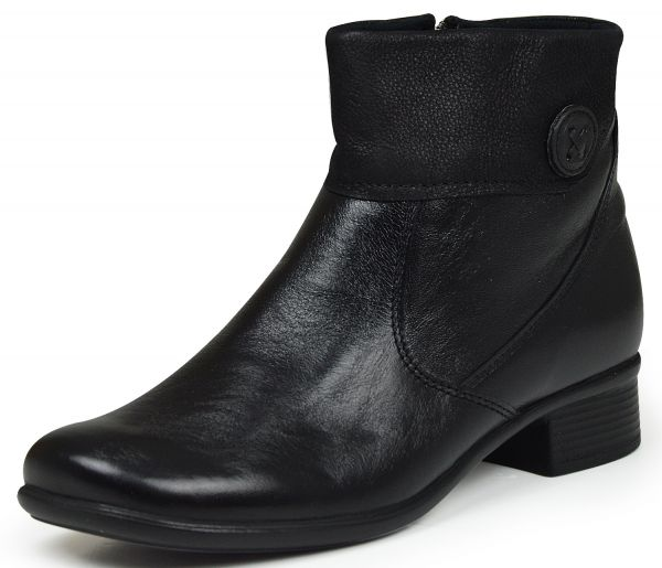 Comfortabel 990869 Damen Kurzschaft Stiefel Weite H Wechselfußbett schwarz