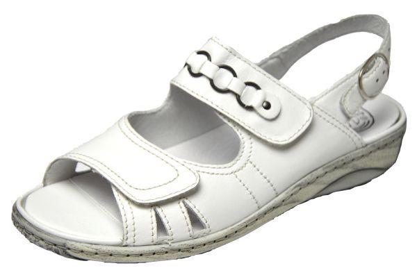 Waldläufer Garda 210004 Damen Sandalen Wechselfußbett weiß