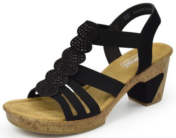 Rieker Antistress 69702-00 Damen Sandaletten schwarz