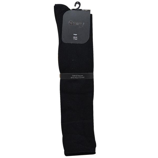 Qano Relax 7008 Unisex 2 Paar Kniestrümpfe ohne enges Gummi schwarz