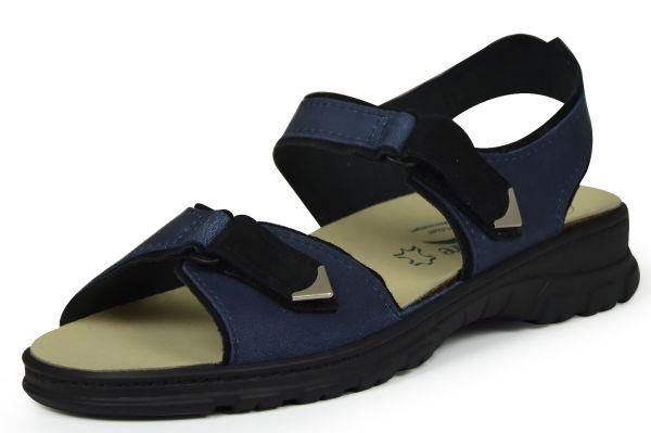 Algemare 6478 Damen Sandalen Wechselfußbett blau