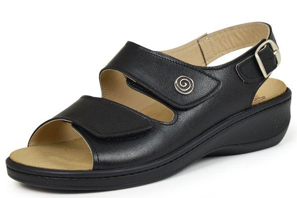 Breböck 6286 Damen Sandalen PCP freies Leder Wechselfußbett schwarz