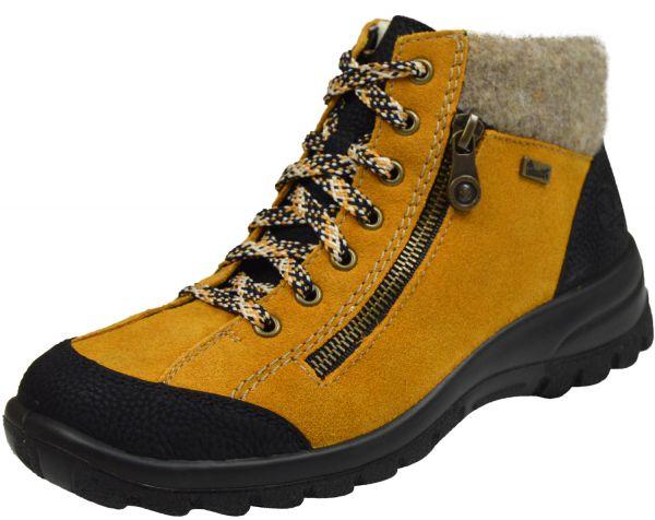 Rieker L7132 Damen Warmfutter High Top Sneaker gelb kombi