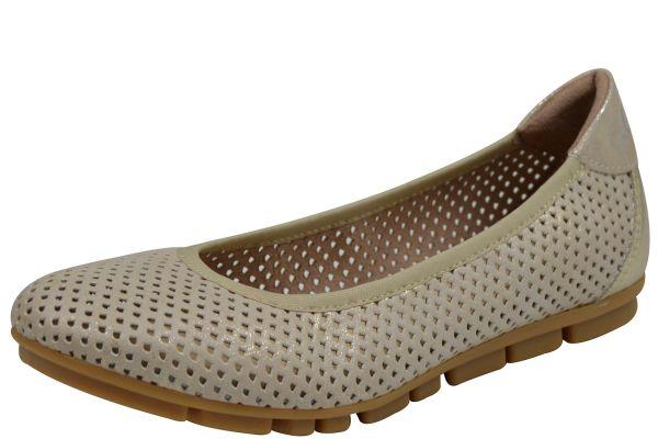 s.Oliver 22100-22 Damen Slipper beige ( nude Metal.)