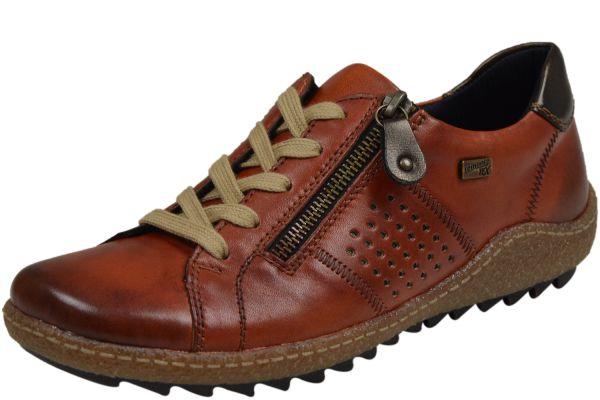 Remonte R4717 MemoSoft Damen Sneaker mit Remonte Tex ziegel ( orange )