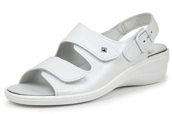 Algemare 2486-1127 Damen Sandalen Wechselfußbett weiß