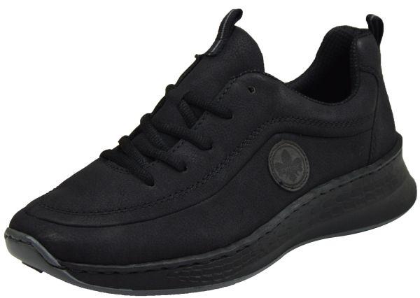 Rieker N5604-00 Damen Schnürschuhe schwarz