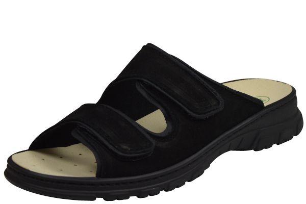 Algemare 6446 Damen Pantoletten Wechselfußbett schwarz