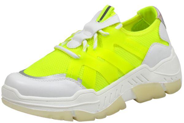 s. Oliver 5-23666-24 Damen Sneaker gelb ( neon yellow )
