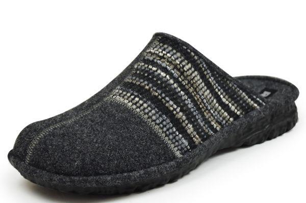 Romika Mikado H53 Herren Pantoffeln Wollfilz grau multi