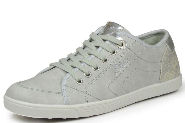 s.Oliver 5-23631-28 Damen Sneaker hellgrau