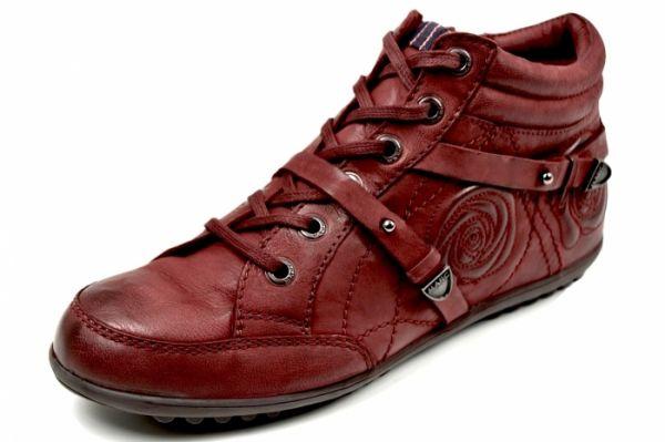 MARC 1.686.20-39 Helen Damen Sneaker Wechselfußbett oxblood (rot)