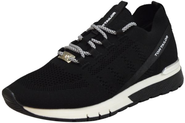 Tom Tailor 1191101 Damen Sneaker schwarz