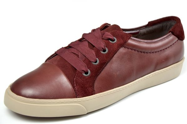 Clarks Glove Magic Damen Schnürschuhe, Sneaker, oxblood (bordo)