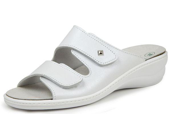 Algemare 1458-1127 Damen Pantoletten Wechselfußbett blanco (weiß)